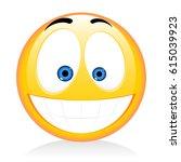 emoji  emoticon   happy | Shutterstock . vector #615039923