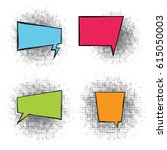bubbles for comics vector... | Shutterstock .eps vector #615050003