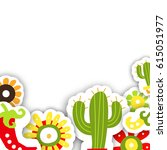 frame template for the mexican...   Shutterstock .eps vector #615051977