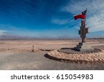 Chilean Flag And Monument In...