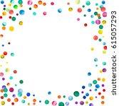sparse watercolor confetti on... | Shutterstock . vector #615057293