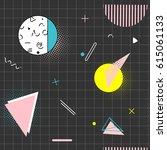vector simple pattern in 80s... | Shutterstock .eps vector #615061133