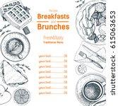 breakfasts and brunches top... | Shutterstock .eps vector #615063653