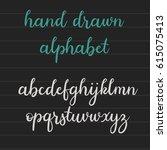 handwritten brush style... | Shutterstock .eps vector #615075413