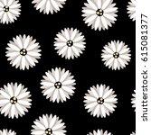 modern daisy print   seamless...   Shutterstock .eps vector #615081377