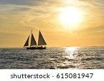 sunset sail  | Shutterstock . vector #615081947