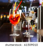 couple of cocktail glasses on... | Shutterstock . vector #61509010