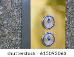 press the elevator up and... | Shutterstock . vector #615092063