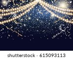 festival background with string ... | Shutterstock .eps vector #615093113