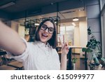 portrait of excited cheerful... | Shutterstock . vector #615099977