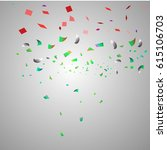 many falling colorful tiny... | Shutterstock .eps vector #615106703