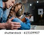 pleasant cheerful man helping...   Shutterstock . vector #615109907
