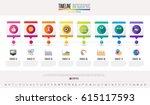 timeline infographics design... | Shutterstock .eps vector #615117593