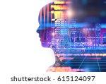 programming code abstract... | Shutterstock . vector #615124097