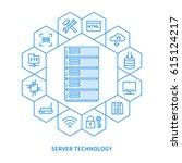 server infrastructure vector... | Shutterstock .eps vector #615124217