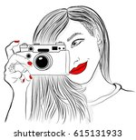 monochrome vector illustration. ... | Shutterstock .eps vector #615131933