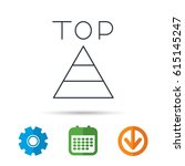 triangle icon. top or best... | Shutterstock .eps vector #615145247