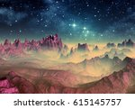 3d created and rendered fantasy ... | Shutterstock . vector #615145757