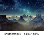 3d created and rendered fantasy ... | Shutterstock . vector #615145847