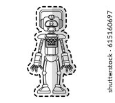 robot technology icon image  | Shutterstock .eps vector #615160697