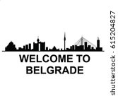 welcome to belgrade vector | Shutterstock .eps vector #615204827