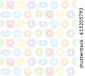seamless pattern with signs and ... | Shutterstock .eps vector #615205793
