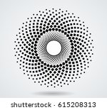 halftone dots in circle form.... | Shutterstock .eps vector #615208313