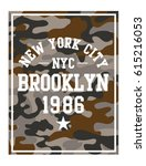 new york authentic camouflage... | Shutterstock .eps vector #615216053