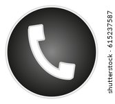 vector image button with handset | Shutterstock .eps vector #615237587