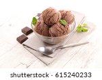 ice cream chocolate | Shutterstock . vector #615240233