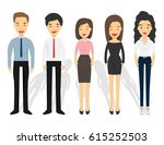 group of business and office... | Shutterstock .eps vector #615252503
