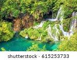 plitvice lakes national park ... | Shutterstock . vector #615253733