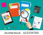financial audit concept.... | Shutterstock .eps vector #615254783