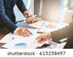 business concept  business man... | Shutterstock . vector #615258497