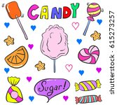 vector illustration of candy... | Shutterstock .eps vector #615273257