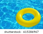colorful inflatable tube... | Shutterstock . vector #615286967