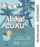 aloha party | Shutterstock .eps vector #615290603