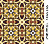 italian tiles pattern vector... | Shutterstock .eps vector #615291527