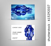 business card with colorful... | Shutterstock .eps vector #615292037