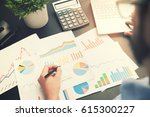 business analysis   man working ... | Shutterstock . vector #615300227