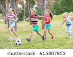 elementary school kids in... | Shutterstock . vector #615307853