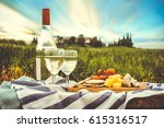 view of a picnic in the nature... | Shutterstock . vector #615316517