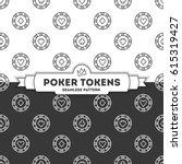 poker tokens. vector seamless... | Shutterstock .eps vector #615319427