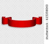 Decorative Red Ribbon Banner...