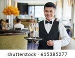 portrait of smiling vietnamese... | Shutterstock . vector #615385277