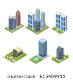 city skyscraper and cafe... | Shutterstock .eps vector #615409913