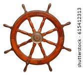 vintage ships wheel made of... | Shutterstock . vector #615412313