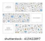 vector line concept for... | Shutterstock .eps vector #615422897