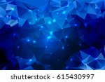blue shades abstract low poly... | Shutterstock .eps vector #615430997