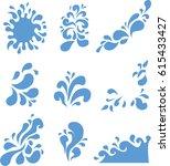 water splash in vector | Shutterstock .eps vector #615433427